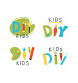 diy kids logo template vector image