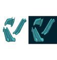 escalator color drawings vector image