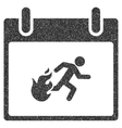 Fire Evacuation Man Calendar Day Grainy Texture vector image