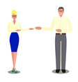 flat isolated business people vector image vector image