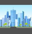flat style modern design urban city landscape vector image vector image