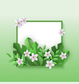 floral with cherry or apple vector image vector image