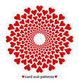 gambling card suit poker pattern made with hearts vector image vector image