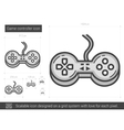Game controller line icon vector image vector image