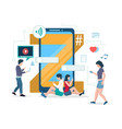 generation z concept for web banner vector image