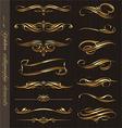 golden calligraphic design elements vector image vector image