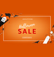 halloween sale web banner vector image vector image