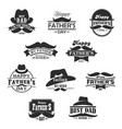 happy father day mustaches and hat icons vector image vector image
