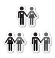 Hetero gay and lesbian love couples labels set vector image vector image