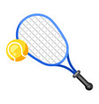 icon tennis racket and ball in flat style vector image
