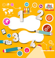 Infographics Template with Technology Icons on vector image vector image