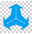intersection directions icon vector image