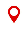 location icon for map pointer on isolated vector image vector image