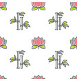 lotus and bamboo spa and beauty floristic seamless vector image vector image