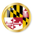 maryland flag button vector image vector image