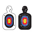 men paper targets with bullet holes vector image vector image