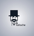 mustache guy theme vector image