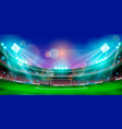 night sports stadium with lights vector image vector image