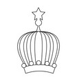 queen or king crown vector image