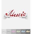 realistic design element music inscription vector image