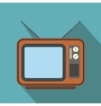 Retro tv flat icon vector image