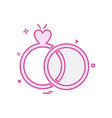 ring icon design vector image