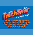 rock star - decorative font with graphic style vector image vector image