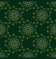 seamless pattern with monogram spirograph vector image