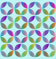 seamless pattern with rounded geometric elements vector image vector image