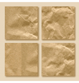 set crumpled paper vector image