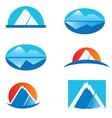 set of mountains logo vector image vector image