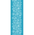 Snowflake Texture Vertical Seamless Pattern Border vector image