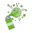 spray canister paint artistic creativity vector image vector image