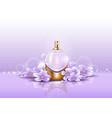 sprayer or perfume glassware bottle for aroma vector image vector image