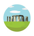 stonehenge icon isolated on white background vector image vector image