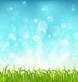 Summer nature background with grass vector image vector image