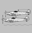 supermarine spitfire world war 2 fighter vector image