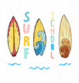surf boards hand drawn sketch t-shirt print vector image vector image