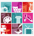 symbols of arts vector image vector image