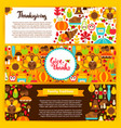 thanksgiving horizontal banners vector image vector image