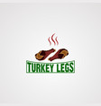 turkey leg logo icon element and template for vector image
