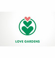 unique symbol for plant lovers logo sign vector image vector image