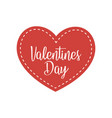 valentines day heart with the inscription vector image vector image