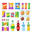 vending products snacks chips sandwich and vector image vector image