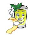 with menu mint julep mascot cartoon vector image