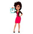 young african american business woman vector image vector image