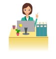 Business woman working in office Character vector image