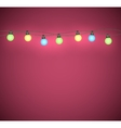 Light bulbs garland vector image