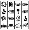 internet web icon series set vector image