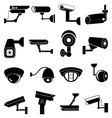Security camera icons set vector image